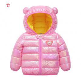 Geaca roz inchis lucios pentru fetite (marime disponibila: 2 ani)