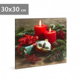 Tablou de Crăciun cu LED - 30 x 30 cm - 58454A
