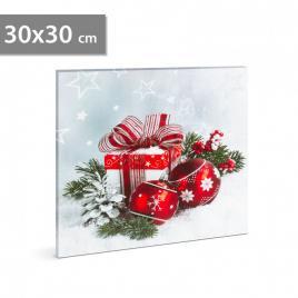 Tablou de Crăciun cu LED - 30 x 30 cm - 58454B