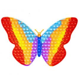 Jucarie senzoriala antistres pop it curcubeu xxl - fluture