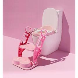 Scara cu reductor WC si olita pentru fete culoarea roz