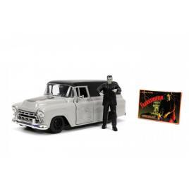 Set masinuta 1957 chevy suburban si figurina frankenstein