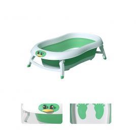 Cadita pliabila pentru bebelusi cu hamac detasabil -verde