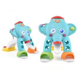 Centru de activitati elefant cu bile, cos, sortator, sunete si lumini