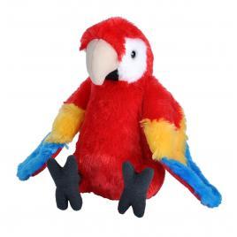 Jucarie plus papagal macaw stacojiu wild republic 20 cm