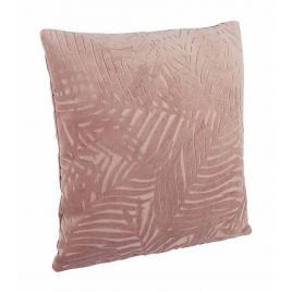 Perna decorativa din catifea roz pudrat anitha 40 cm x 40 cm