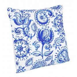Perna decorativa din textil alb albastru kitty 40 cm x 40 cm