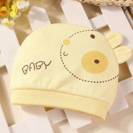Caciulita galbena tip fes - baby (marime disponibila: 0-3 luni)