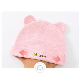 Caciulita roz tip fes cu urechiuse (marime disponibila: 0-3 luni)