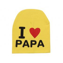 Caciulita tip fes diverse culori - i love papa (marime disponibila: 9-12 luni...