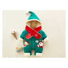 Combinezon verde pentru bebelusi - hello christmas (marime disponibila: 9-12...
