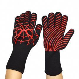 Manusi pentru gratar, 4U®, protectia termica, 1 pereche, negru