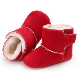 Cizmulite rosii imblanite din material tip piele intoarsa (marime disponibila:...