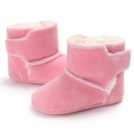Cizmulite roz imblanite din material tip piele intoarsa (marime disponibila:...