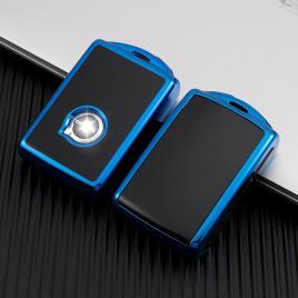 Husa cheie auto volvo xc90 xc60 xc40 smartkey tpu+pc albastru