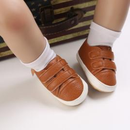 Pantofiori maro pentru baietei (marime disponibila: 3-6 luni (marimea 18...