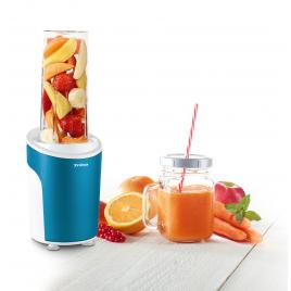 Nutriblender juicer trisa power smoothie 6930.12, cutit cu 4 lame, 21.000rot/min, albastru