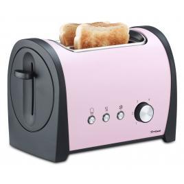Prajitor de paine trisa retro line 7367.8712 culoare roz, putere 800w,  6 pozitii reglabile pentru o rumenire perfecta a painii
