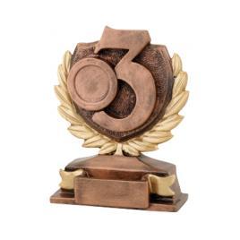 Trofeu Figurina din Rasina Locul 3 cu inaltime 12 cm