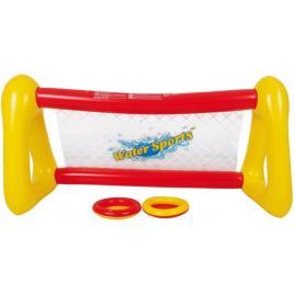 Joc frisbee pentru piscina, cu poarta, plasa si 2 discuri, 131.5 x 48 x 68 cm