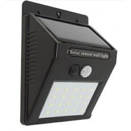Lampa solara de perete cu 20 led-uri, senzor de miscare si lumina, 100 lumeni