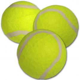 Set 3 mingi de tenis de camp enero, diametru 6.3 cm, galben
