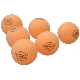 Set 6 mingi pentru tenis de masa shield 101, 40mm, culoare portocaliu