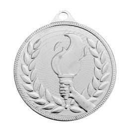 Medalie Flacara Olimpica Argintiu cu 5 cm diametru
