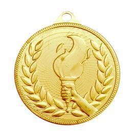 Medalie Flacara Olimpica Auriu cu 5 cm diametru