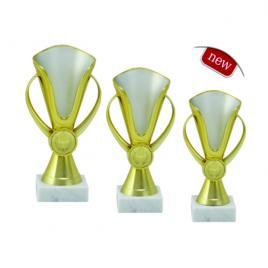 Set Cupe 3 bucati Locul 1, 2 si 3 cu inaltime 19 cm, 17 cm si 15 cm