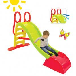 Tobogan de gradina xxl pentru copii, cu scara si functie pentru conectare furtun de apa, 180cm, verde