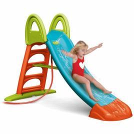 Tobogan de gradina xxl pentru copii feber, cu scara si functie pentru conectare furtun de apa, 190cm, multicolor