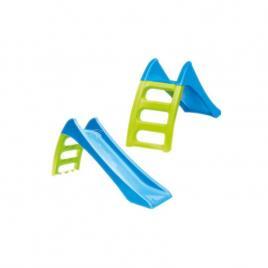 Tobogan de gradina pentru copii, cu scara si functie pentru conectare furtun de apa, 116cm, albastru