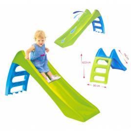 Tobogan de gradina pentru copii, cu scara si functie pentru conectare furtun de apa, 116cm, verde