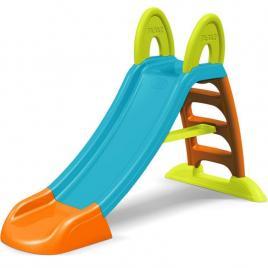 Tobogan de gradina pentru copii feber, cu scara si functie pentru conectare furtun de apa, 152cm, multicolor