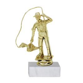 Trofeu Figurina Pescar cu inaltime 16 cm