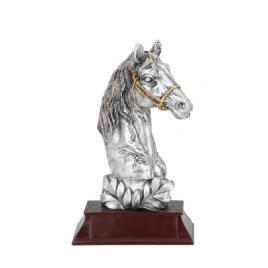 Trofeu Figurina din Rasina Cal Ecvestru cu inaltime 17 cm