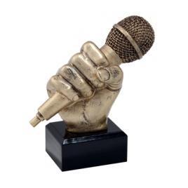 Trofeu Figurina din Rasina Muzica Microfon cu inaltime 14 cm