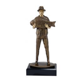 Trofeu Figurina din Rasina Pescar cu inaltime 20 cm