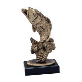 Trofeu Figurina din Rasina Peste cu inaltime 19 cm