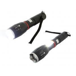 Lanterna led cob u3 cu zoom, 9w, impermeabila, 6 moduri de iluminare, cu suport de bicicleta