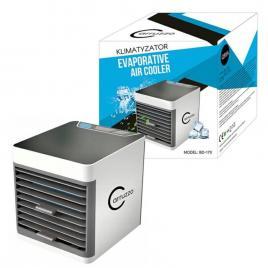 Mini aparat de aer conditionat portabil, pentru camera sau birou, iluminare led, rezervor 375ml, 10w