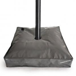Suport umbrela, forma patrata, diametru 10 cm, 74x74x14 cm, culoare gri