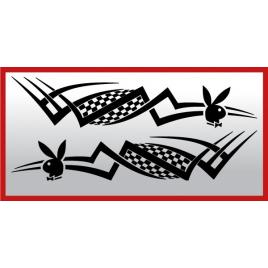 Set 2 buc. stickere portiere tribal - playboy maniastiker