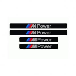 Set stickere auto protectie praguri bmw m power, 4buc