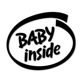 Sticker auto baby inside, negru