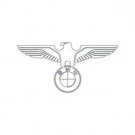 Sticker auto luneta bmw vultur, alb