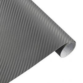 Folie carbon 3d gri antracit, 1x1,5m, tehnologie de eliminare a bulelor de aer