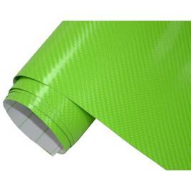 Folie carbon 3d verde, 1x1.27m