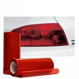 Folie protectie faruri/stopuri rosie 60x60cm maniacars
